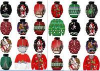 クリスマスコスプレ衣装パーカー女性男性3dスウェットパグスノーツリー帽子鹿猫犬サンタクロースブランド服パーカー