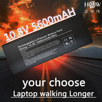 HSW 10.8v laptop battery for Apple MacBook 13 A1181 laptop battery A1185 MA561 MA566 MA255 MA472 MA699 MA700 MA701 battery