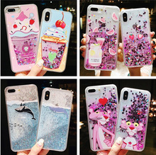 Quicksand Apply Iphone6/7/8/x Hand Shell Shimmering Powder Paillette Apple Plus Silica Gel Protect Sheath