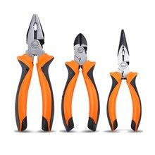 6/8'' Professional Diagonal Tools Multifunction Wire Pliers Set Stripper Crimper Cutter Industrial Grade Chrome Vanadium Steel стоимость