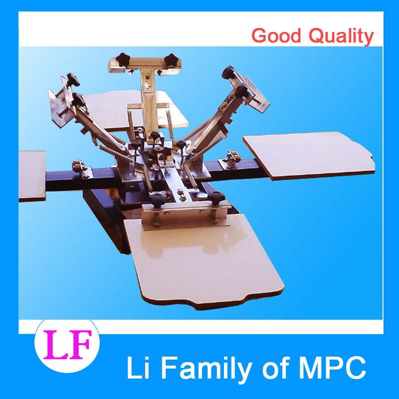 Automatic Flatbed Printer 1 Set 4 Color 4 Station Press DIY T-Shirt Printing