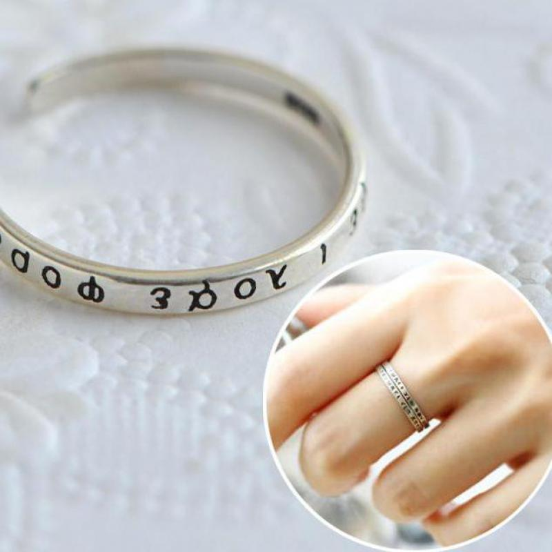 Guaranteed 925 Sterling Silver Vintage Midi Rings For Women Greek Alphabet Design Adjule Ring Elegant Jewelry In From Accessories On