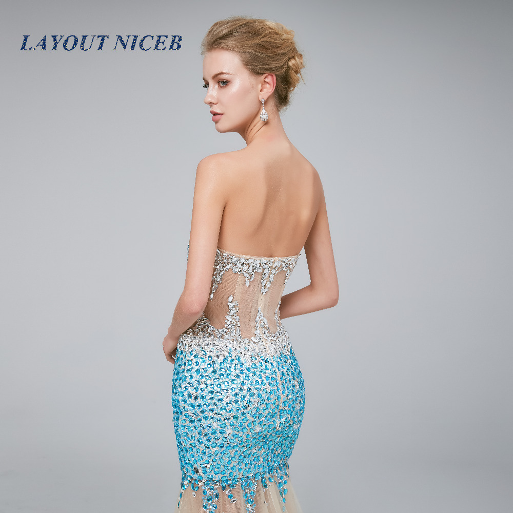 Sexy Sparkly Prom Dress 2018 Sexy Mermaid Luxury Crystal Beaded Rhinestone  abendkleider gala jurken galajurken Tulle Prom Gown-in Prom Dresses from  Weddings ... 4a6054002845