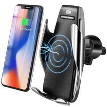 Automatic Clamping Wireless Car Charger 10W Smart Sensor Car Phone Holder Wireless Charger for Samsung S10 iPhone Xs Xiaomi Mi 9(China)