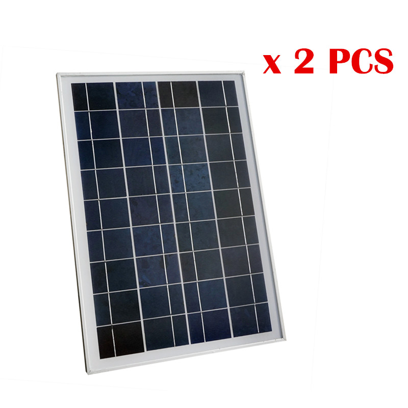 цены USA Stock No Tax 50W 2 * 25W 18V Poly Polycrystalline Solar Panel for Charging 12V Battery 12V Solar System Car Boat RV
