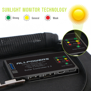 Image 2 - ALLPOWERS powerbank na energię słoneczną 5V 21W szybkie ładowanie ładowarka solarna dla iPhone 6 6s 7 7plus 8 X Samsung Xiaomi Huaming Sony HTC LG