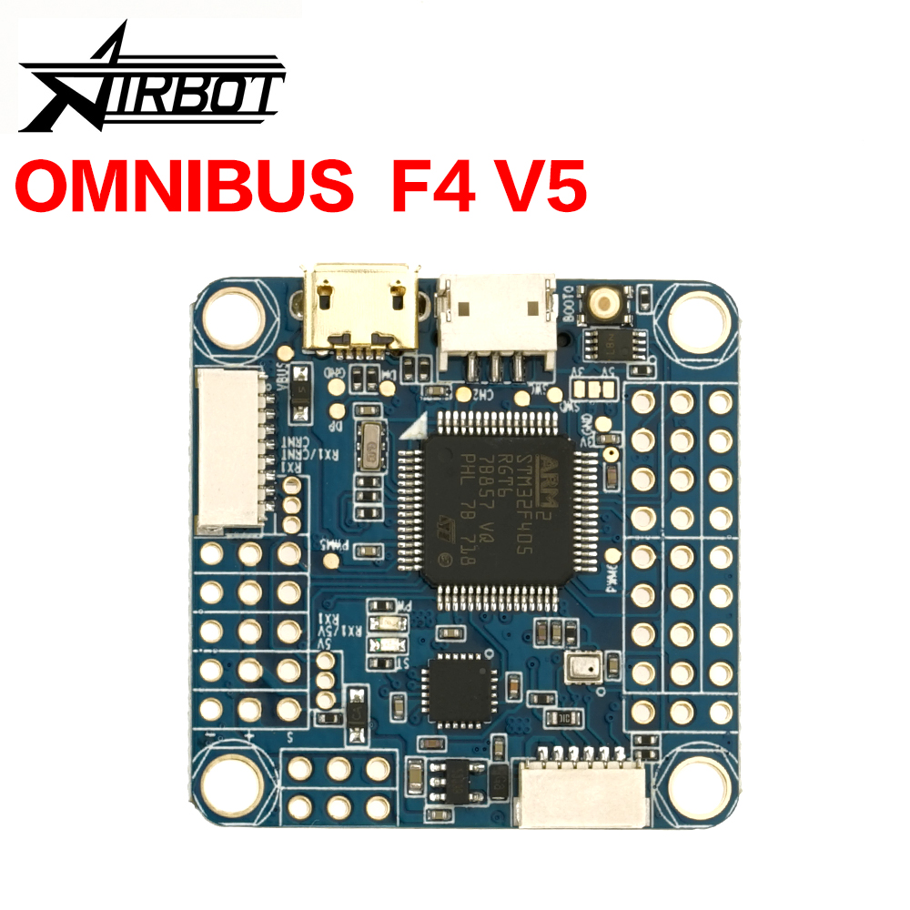US $31 57 |OMNIBUS F4 V5 Flight Control drones with Quadcopter rc plane  Airbot Authentic A new generation AIO Flight control for FPV -in Parts &