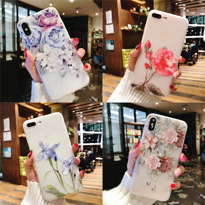 Flower Phone Case For iPhone 6 7 Case Girl 5