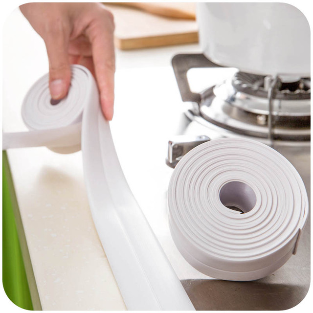 320cm Kitchen Mildew Waterproof Tape Affixed The Seam Line Moisture Mold Corner Protectors Bumper Strip Strong Tape