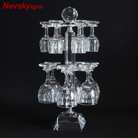 High quality crystal wine glass holder Wine glass holder Crystal goblet Kitchen crystal shelf Bar crystal cup holder Bar counter