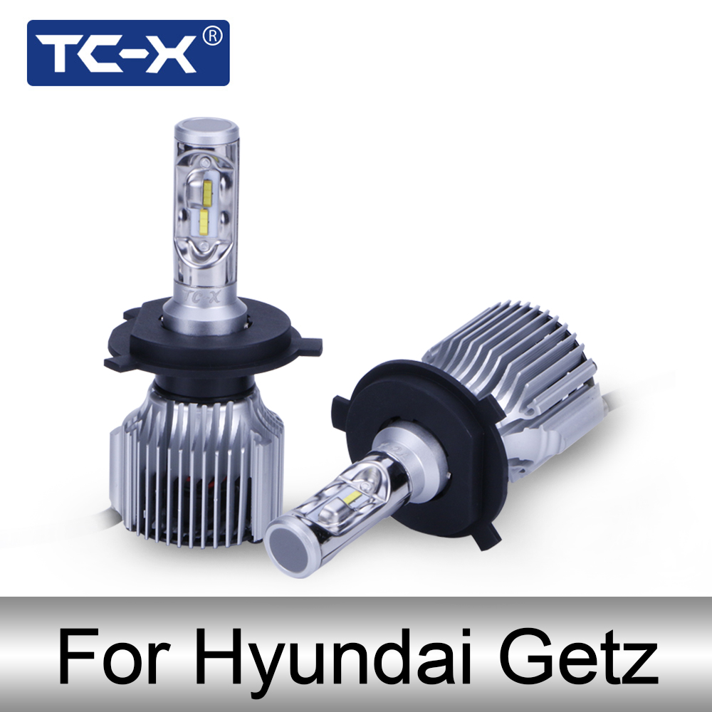 TC-X Auto LED Headlight For Hyundai Getz (TB) H4 H27 880 H1 High Low Beam LED Bulbs Foglight Auto Headlamps 2004 2005 2007 2008