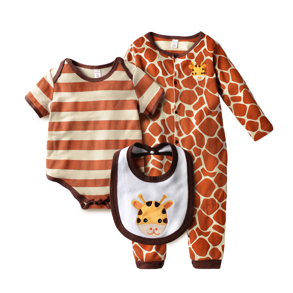New Born Baby Boy Girl Clothes Footed Rompers BABY ROPMER Long Sleeve Cotton Sleep&Play Clothing Newborn 3 Pcs Set baby rompers long sleeve baby boy girl clothing jumpsuits children autumn clothing set newborn baby clothes cotton baby rompers