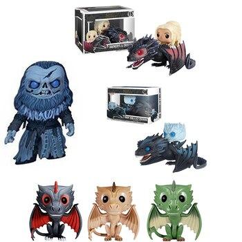 FUNKO POP Game of Thrones NIGHT KING & ICY VISERION Daenerys Ritten Dragon Actie Ghost giant  Dragon Viserion Rhaegal figures цена 2017