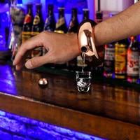 3 5oz Stainless Steel Jug Bracelet Alcohol Hip Flasks Funnel Bangle Bracelet Jewelry Gift Funnel Bangle