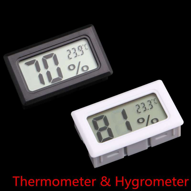 Mini LCD Digital Thermometer Hygrometer Fridge Freezer Tester Temperature Humidity Meter Detector Thermograph Pet Auto Car