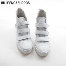 HUIFENGAZURRCS-Korean version of high quality real leather flat bottomed casual boots fall new shoes chic 2 colors