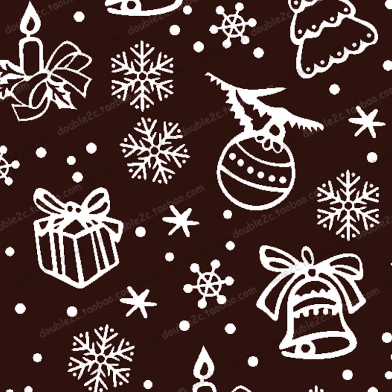 Christmas Chocolate Transfer Sheet,10PCS 32x21cm,Snowflake Transfer Chocolate Sheets,Baking & Pastry Tools,Chocolate Tools