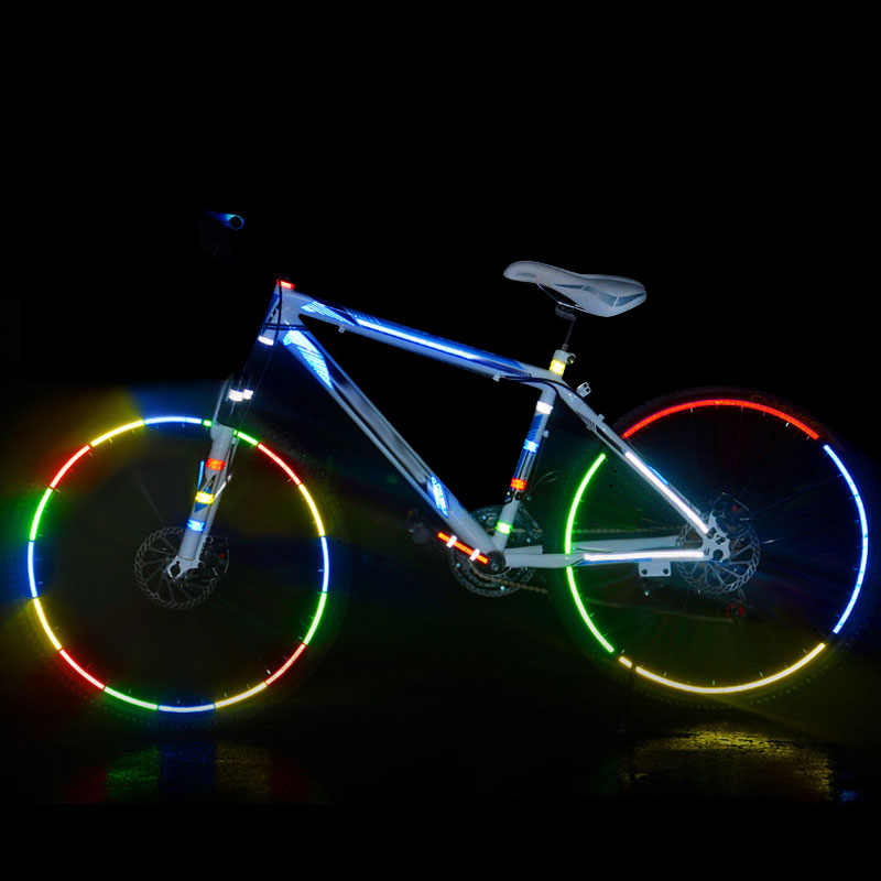 8M Sepeda Reflektif Stiker MTB Sepeda Motor Neon Stiker Keselamatan Peringatan Bersepeda Tape Reflektif Stiker Tape Roll