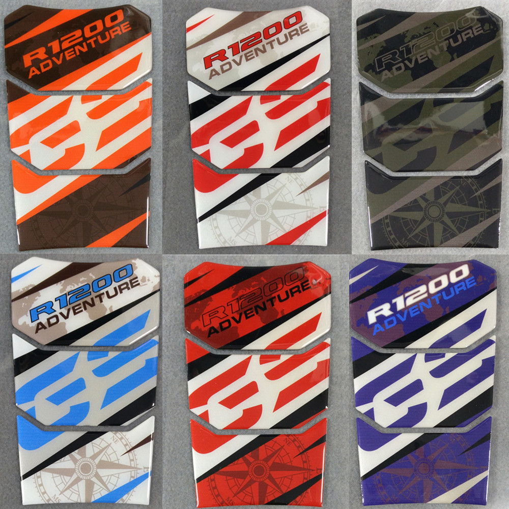 10 Colour 3D Reflective Motorcycle For BMW R1200 GS ADVENTURE R 1200 r gs Fuel Tank Pad Protector Sticker Decal Reflective
