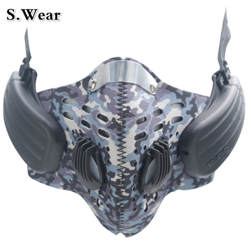 S.Wear Anti Fog Mask Bone Conduction Bluetooth Sports Headphones Professional Wireless Hands Free Calls Talking Music Headset