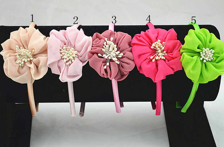 bear Hairbands crown gauze hair accessories for the beautiful girl Princess  cartoon arches of hoop bands 16d04d363b76