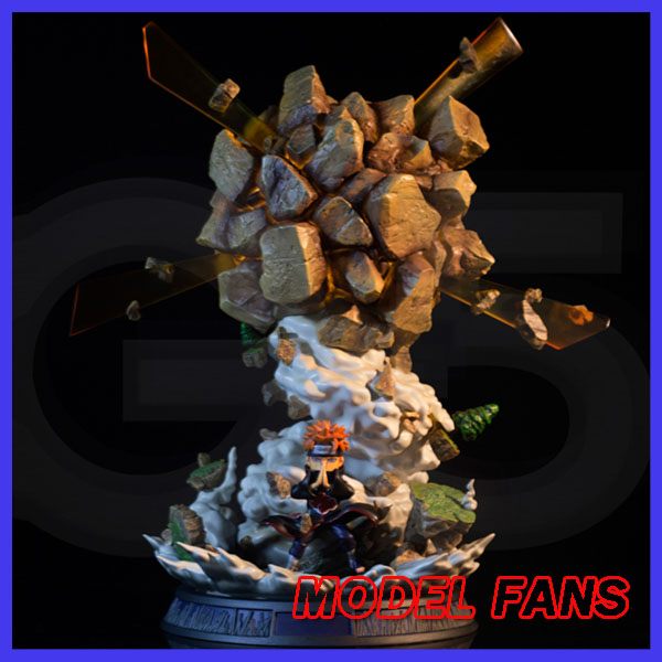 цена на MODEL FANS IN-STOCK NARUTO G5 SD 9cm height Akatsuki Pain Chibaku Tensei gk resin statue contain led light toy for Collection