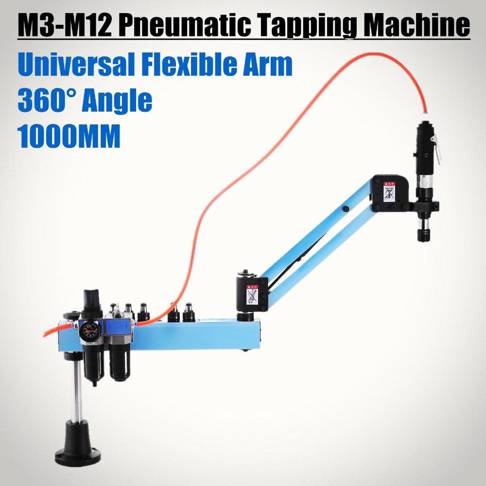 M3-M12 máquina de perfuração de batida pneumática tapper ferramenta braço rápido 1000mm vertical