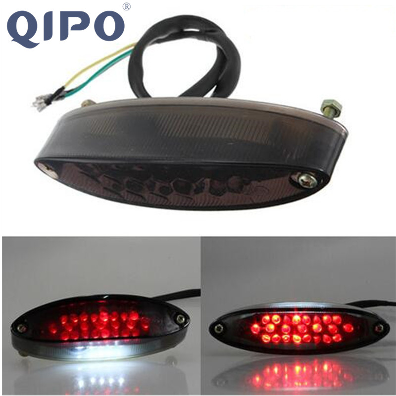 QIPO Universal Humo Motocicleta Moto LED Luz de Freno Luz de Freno - Accesorios y repuestos para motocicletas