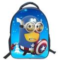 13 Inch Cartoon Backpack Despicable Me Captain America Shoulder Book Bag Printing School Bags For Kids Children Mochila Infant