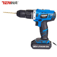 Tenwa Electric Screwdriver Cordless Drill Impact Drill 20 Volt Lithium Ion Battery 13mm Electric Screwdriver D3850