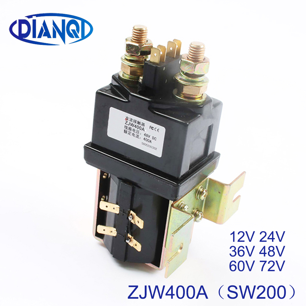 DIANQI SW200-S normally open 12V 24V 36V 48V 60V 72V DC Contactor ZJW400A-S for forklift handling drawing wehicle car PUMP MOTOR