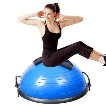 Upgrade Fitness Bosu Ball 58CM Yoga Half Ball Gymnastic Gym Balance Fitball Exercise Bosu Ball Pilates