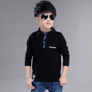 2018 Fashion High Quality Cotton Clothing for boy pullover mandarin collar Sweater Winter New Children's clothing boys Sweater