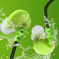 Original Plextone S20 Sports Running Water Proof  P216 Earphone Earbuds Hook Mobile Phone w/ Microphone MP3 Earphone