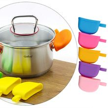 Kitchen Accessories Silicone Heat Resistant Cover Anti-skid Lid Holding Knob Pot Handle