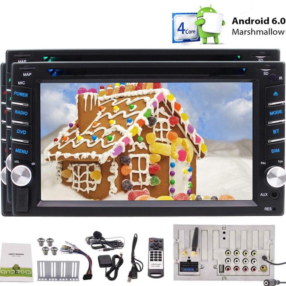 Ecran tactile avec DVD BT GPS USB AUX OBD2 fonction + un micro supplémentaire + télécommande Android 6.0 lecteur vidéo stéréo de voiture pour 2din