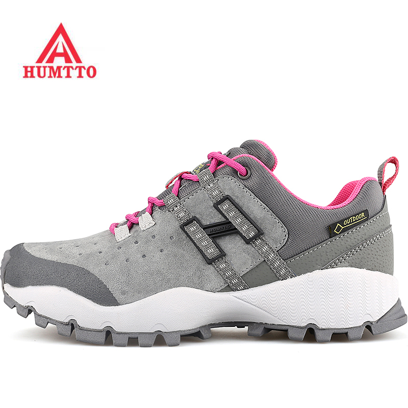 HUMTTO Women's Outdoor Trekking Hiking Sneakers Shoes For Women Leather Sports Climbing Mountain Trail Shoes Sneakers Woman 2017 womens sports summer outdoor hiking trekking aqua shoes sandals sneakers for women sport climbing mountain shoes woman
