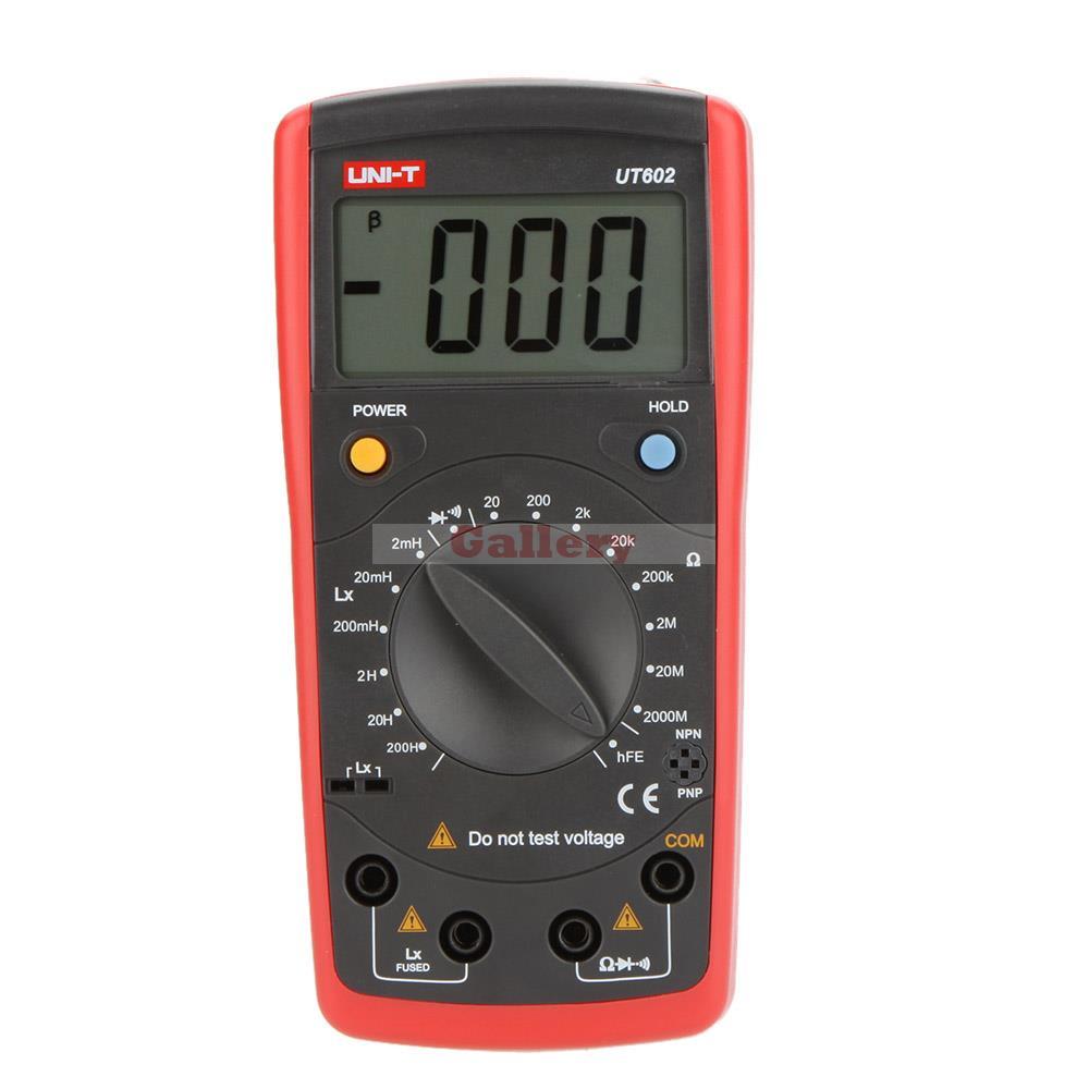 Uni T Ut602 Digital Modern Professional Inductance Meters Testers Lr Lcd Meter Ohmmeter W Hfe Test & Data Hold Uni T Ut61e victor 6243 capacitance resistance inductance digital modern professional inductance capacitance meters lr meter ohmmeter