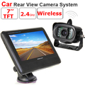 Universal 2.4 G 1.3 Mega Pixels HD câmera sem fio retrovisor do carro sistema 7 polegada tela grande