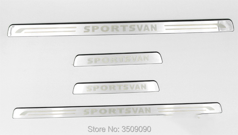 For VW Golf Sportsvan 2016 2017 Europe Version Car Scuff Plate Door Sill Trim Welcome Pedal Car Styling недорго, оригинальная цена