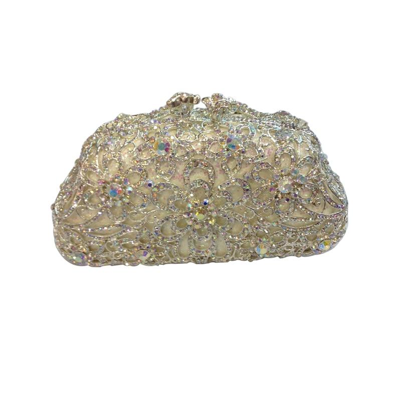 ФОТО Flower Purse Women's Luxury Rhinestone Crystal Evening Clutch Bags