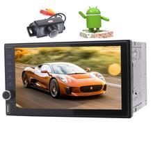 GPS Car Radio Stereo Android 7.1 HD Touchscreen GPS Navigation Bluetooth Radio With 2G RAM+32G ROM FM Wifi USB/SD+Backup Camera