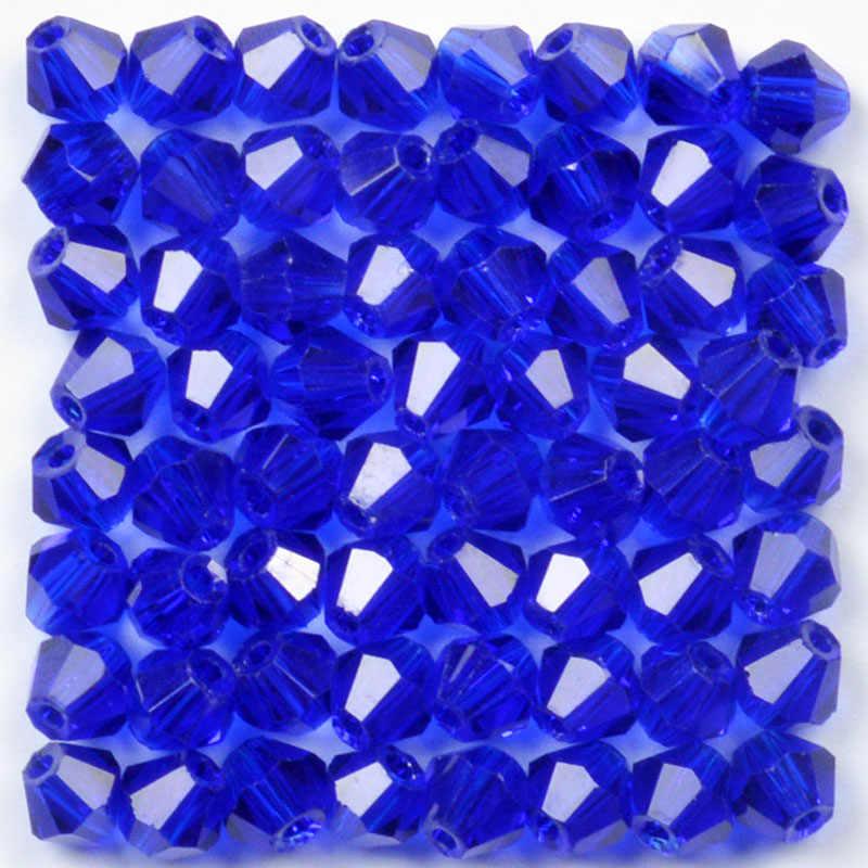4mm Österreichischen Schwarz Doppelkegel Kristall Perlen für Schmuck Machen DIY Zubehör Frauen Charme Faceted Spacer Glas Perlen Großhandel