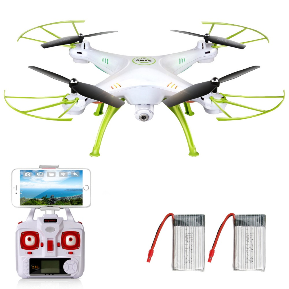 SYMA X5HW Drones with Camera HD WiFi FPV Rear time transmission Remote Control Quadrocopter RC Helicopter Dron Gifted Battery sh5h dron quadrocopter fpv drones with camera hd quadcopters with wifi camera rc helicopter remote control toys vs syma x5c