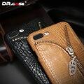 Dr. case de couro case para iphone 7 6 6 s plus capa de luxo equipado para iphone 6 7 crocodilo padrão casos shell capa com slot para cartão