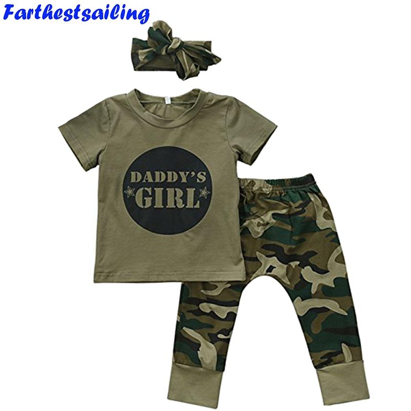Baby Girls Boys Clothes Set 2018 New Summer Newborn Baby Girl Clothing  Short Sleeve T Shirt Pant Toddler Camouflage Outfits Set cotton baby rompers set newborn clothes baby clothing boys girls cartoon jumpsuits long sleeve overalls coveralls autumn winter