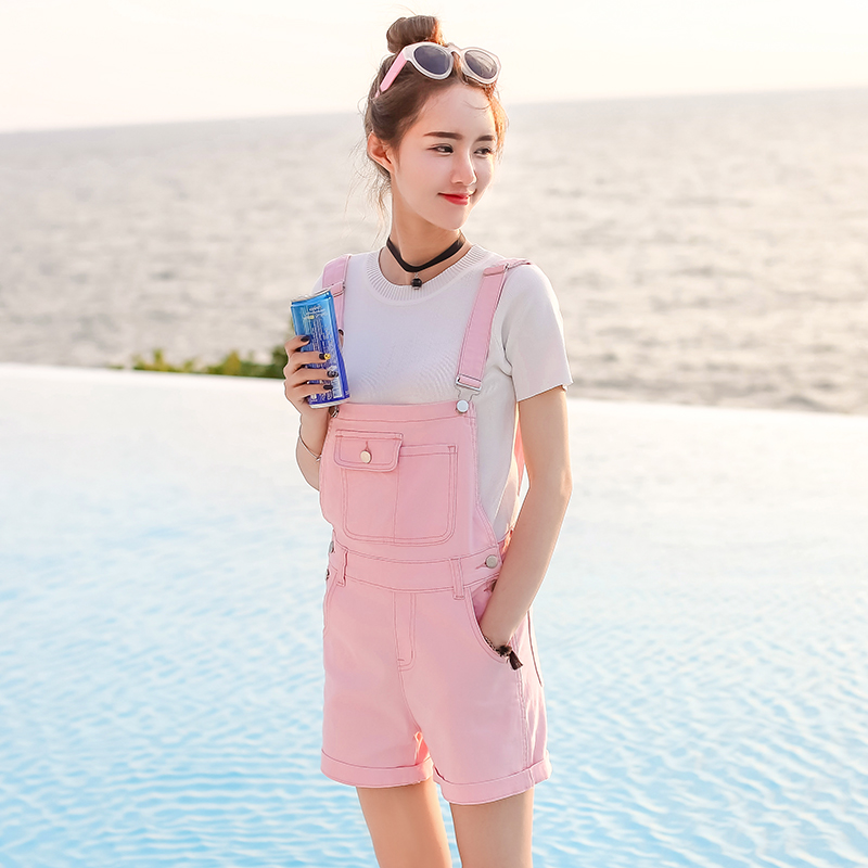 342df66dd50 FANTASYONE Candy Colors Denim Shorts Women Rompers Womens Elegant Denim  Jumpsuit Summer 2017 Fashion Denim Overalls For Women-in Rompers from  Women s ...