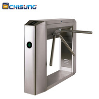 Full Automatic 304 Stainless Steel Security Access Control Tripod Turnstile Barrier Gate