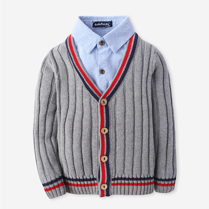 New Arrival Children Sweaters European and American Style With Shirt-collar Kids Sweaters Outerwear Pullover Boy's Sweaters new arrival children sweaters european and american style with shirt collar kids sweaters outerwear pullover boy s sweaters