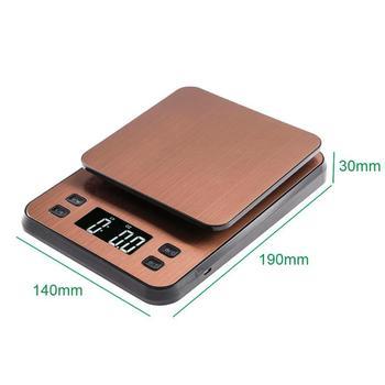 Bilancia Per Alimenti | Oro In Acciaio Inox Portable Digital Kitchen Bilancia 10 Kg Di Peso Degli Alimenti Di Misura Elettronico Bilancia Con Alimentazione USB.